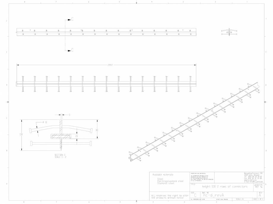 Pagina 1 - CAD-DWG Profile pentru rosturi 130x2 HCJ Detaliu de produs HC-Delta (+)