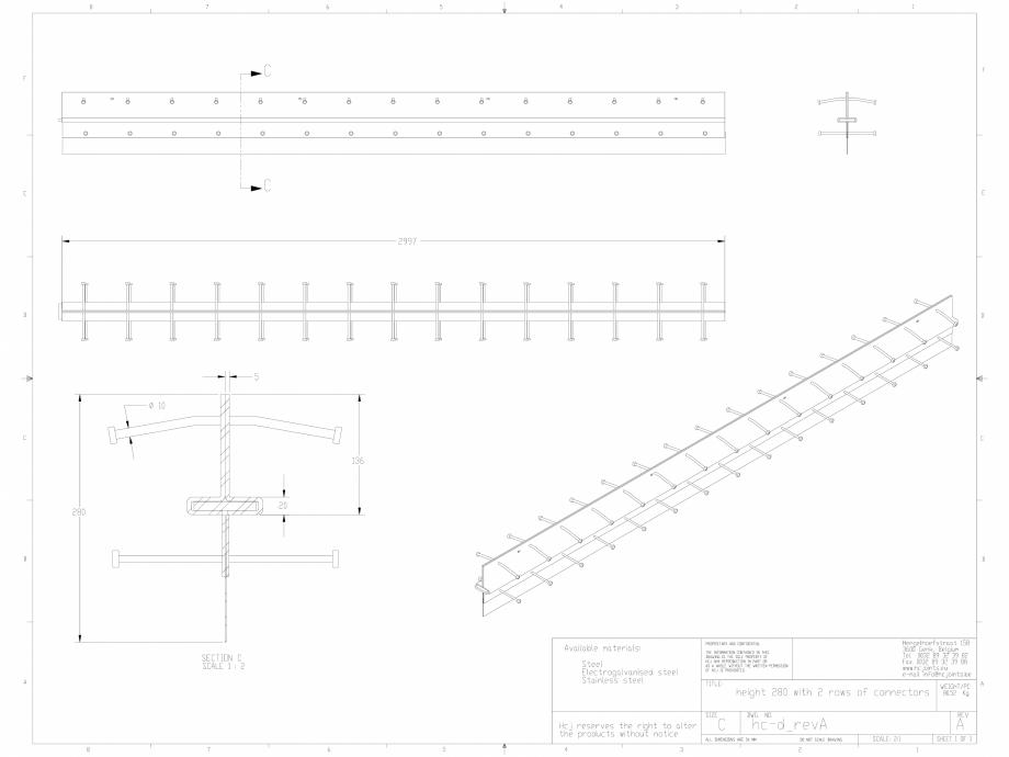 Pagina 1 - CAD-DWG Profile pentru rosturi 280x5 HCJ Detaliu de produs HC-Delta (+)