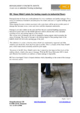Profile pentru reparatii de durata in industria podelelor HCJ