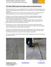 Profile pentru reparatii de durata in industria podelelor