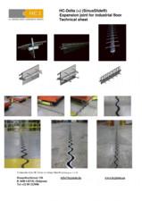 Profile de dilatatie pentru podele industriale HCJ