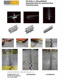Profile de dilatatie pentru podele industriale