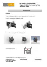 Profile de dilatatie pentru pardoseli industriale HCJ