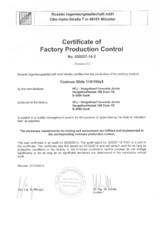 Certificare produs - Controlul productiei in fabrica Cosinus Slide 115/150x5 HCJ