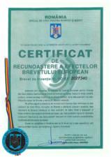 Certificare produs - Certificat de recunoastere HCJ