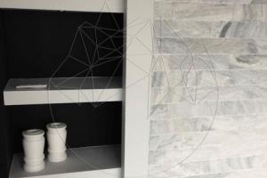 Piatra naturala decorativa marmura kavala Marmura Kavala Scapitata 10 cm x LL x 2.5cm