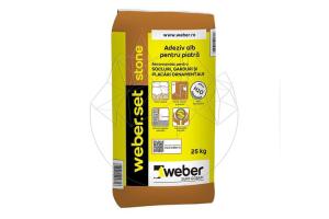 Accesorii piatra naturala adeziv piatra naturala si placi ceramice Adeziv Piatra Naturala - Weber Set Stone - 25 KG, Adeziv Marmura si Granit - Weber Set Marmo Plus - 25 KG, Adeziv Profesional - Weber Set Superflex Max² - 25 KG, Adeziv polistiren expandat - Weber P37 - 25 KG, Adeziv pentru sisteme de izolatie termica - Weber P40 max² - 25 KG, Adeziv flexibil pentru sisteme de izolatie termica - Weber P50 - 25 KG, Mortar de zidarie - Weber KL15 - 30 KG, Adeziv Gresie / Piatra Naturala - Weber Set.Portelanat Max² - 25 KG