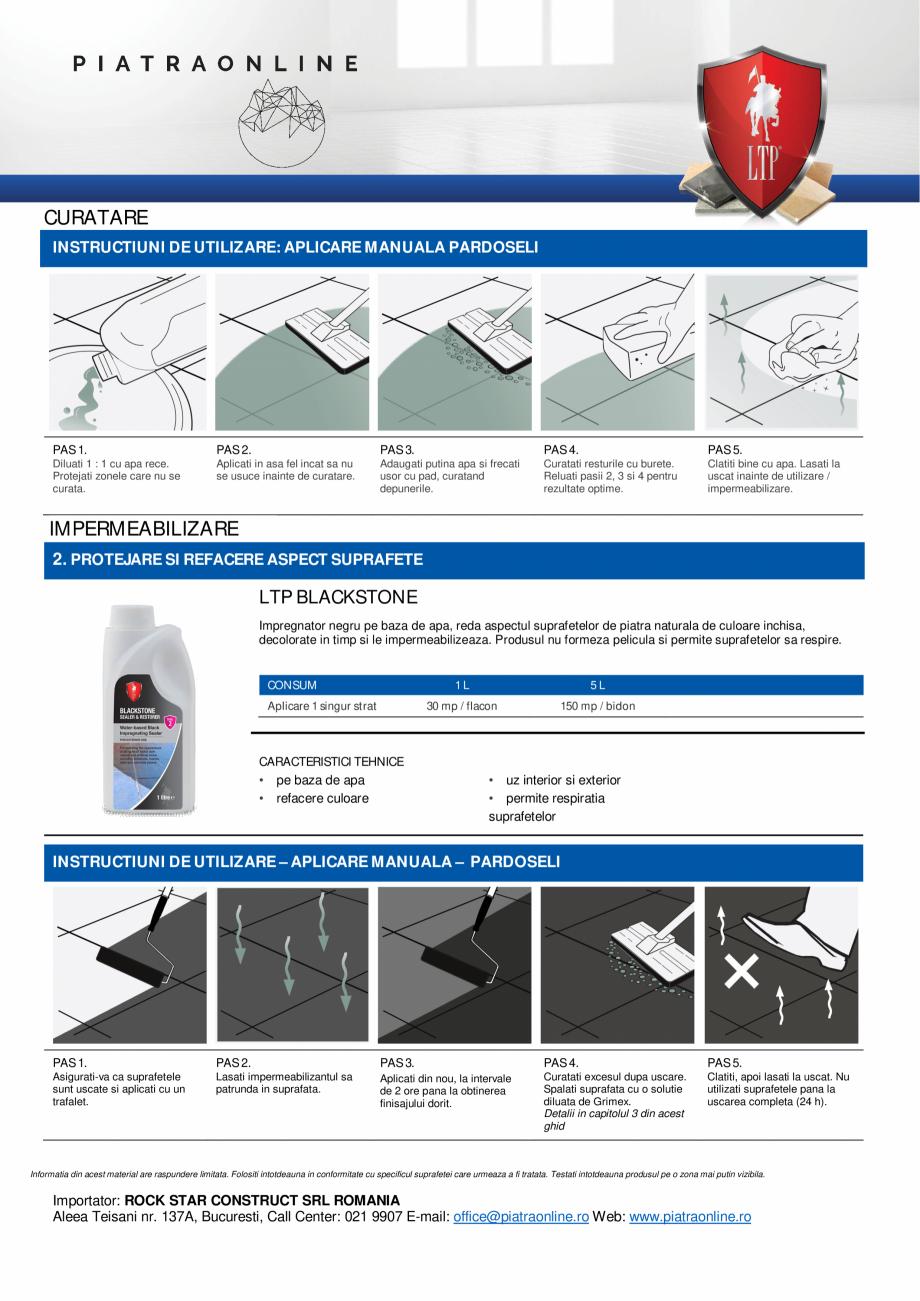 Pagina 2 - Decapant puternic urme ciment, chit, sare sau eflorescente - LTP Cement, Grout & Salt...