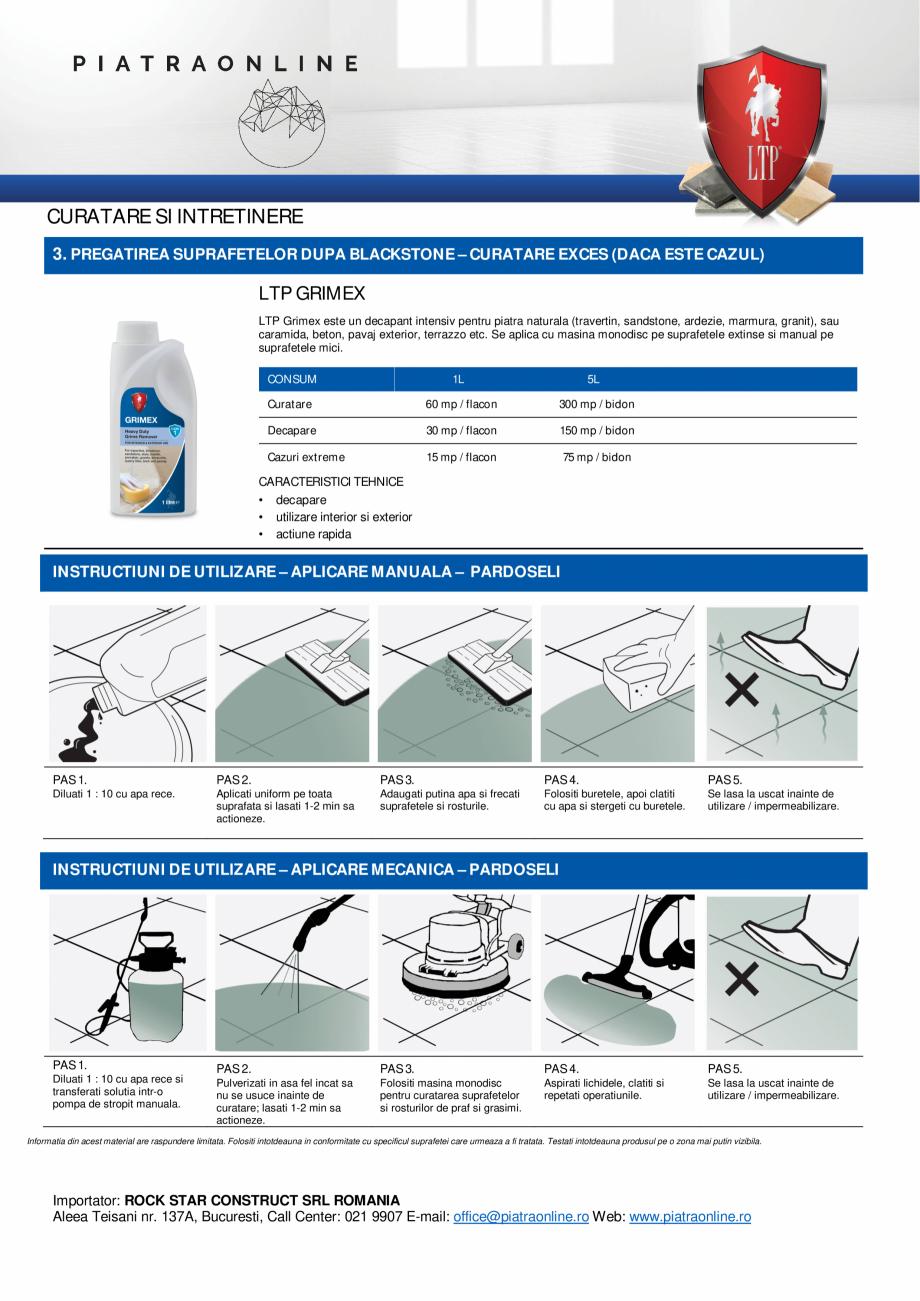 Pagina 3 - Decapant puternic urme ciment, chit, sare sau eflorescente - LTP Cement, Grout & Salt...