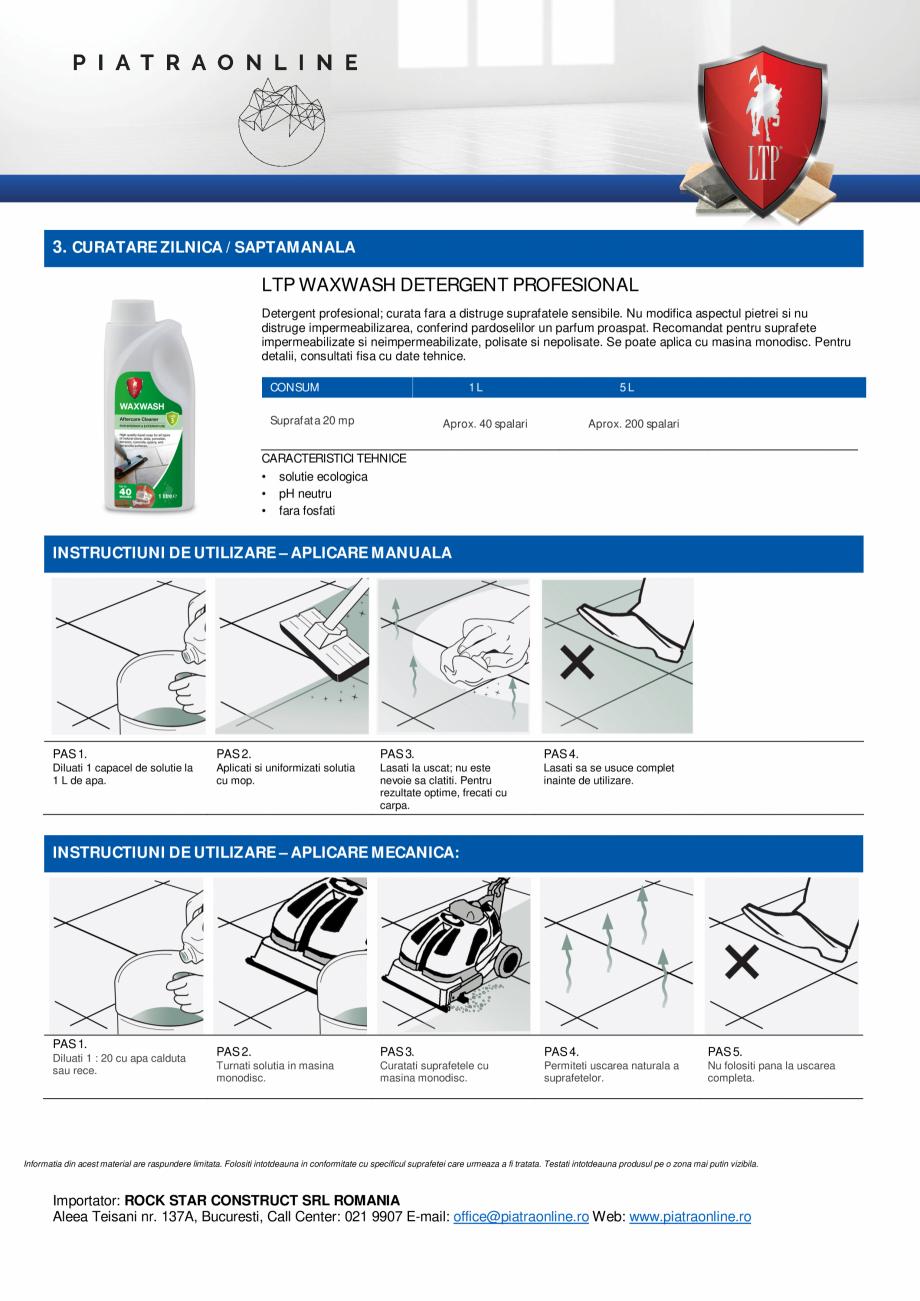 Pagina 4 - Decapant puternic urme ciment, chit, sare sau eflorescente - LTP Cement, Grout & Salt...