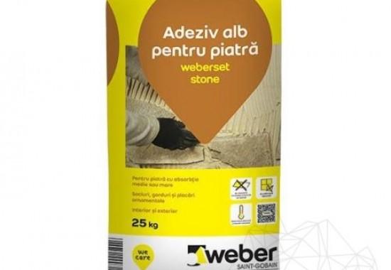 Adeziv piatra naturala si placi ceramice Weber Saint Gobain Romania