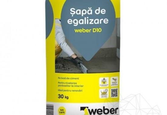 Sape autonivelante de egalizare Weber Saint Gobain Romania