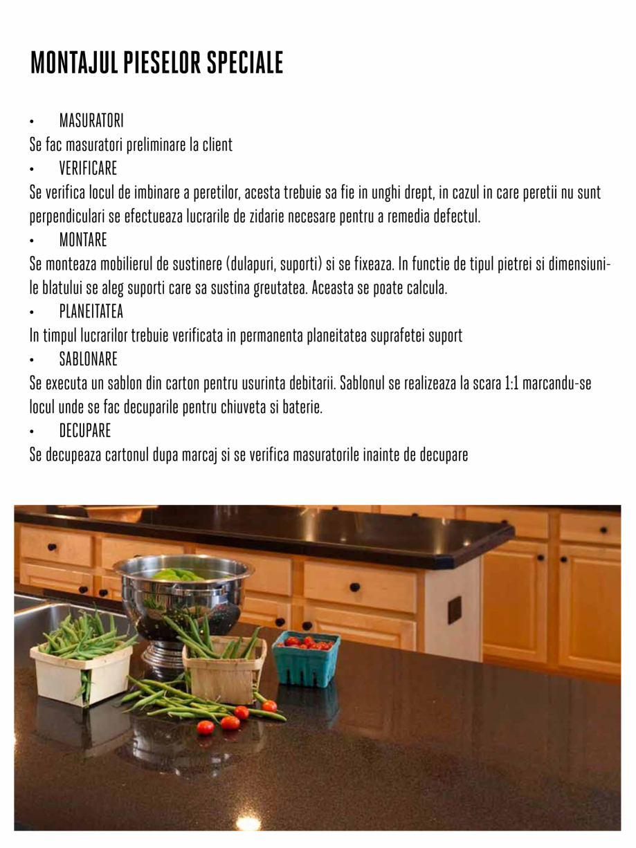 Pagina 3 - Instructiuni de montaj piese speciale PIATRAONLINE Instructiuni montaj, utilizare Romana ...