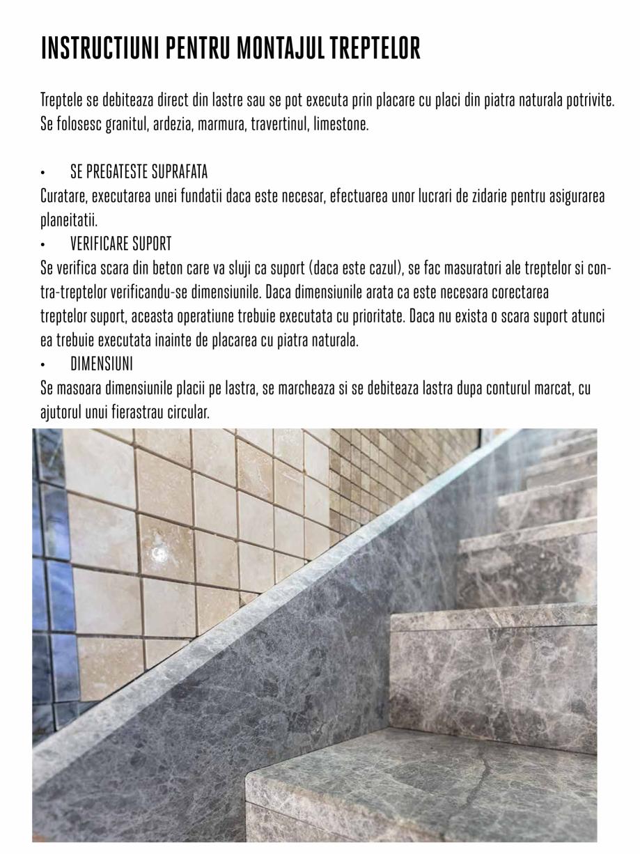 Pagina 5 - Instructiuni de montaj piese speciale PIATRAONLINE Instructiuni montaj, utilizare Romana ...