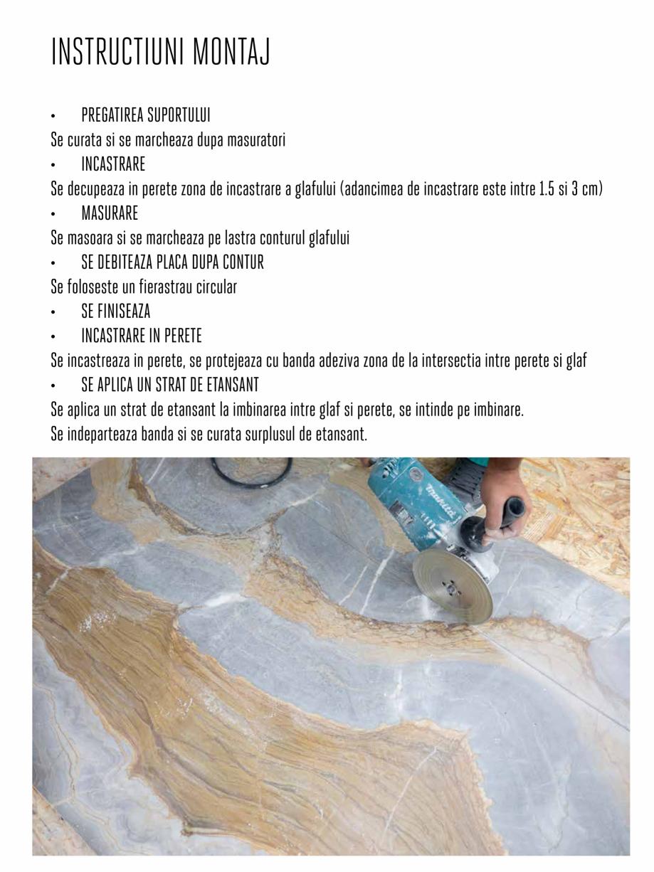 Pagina 9 - Instructiuni de montaj piese speciale PIATRAONLINE Instructiuni montaj, utilizare Romana