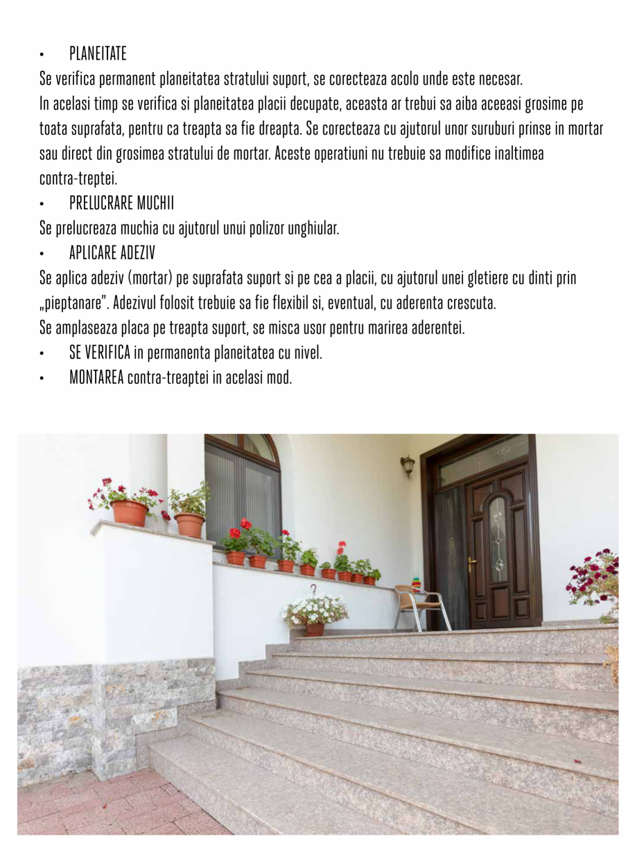 Pagina 6 - Instructiuni de montaj piese speciale PIATRAONLINE Instructiuni montaj, utilizare Romana ...