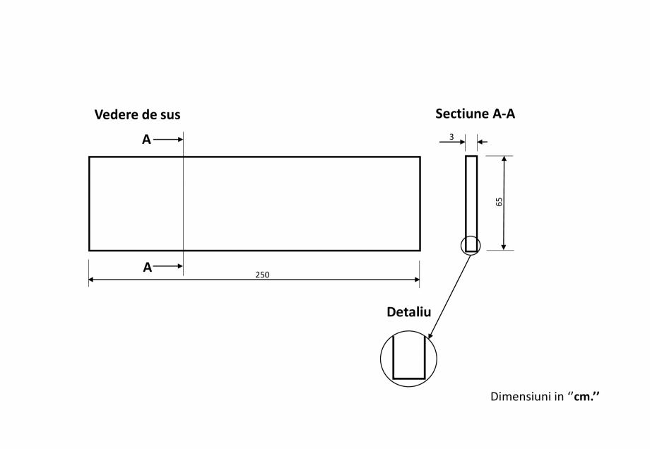 Pagina 1 - CAD-PDF Vedere de sus si sectiune A-A PIATRAONLINE Detaliu de produs PSP-3576