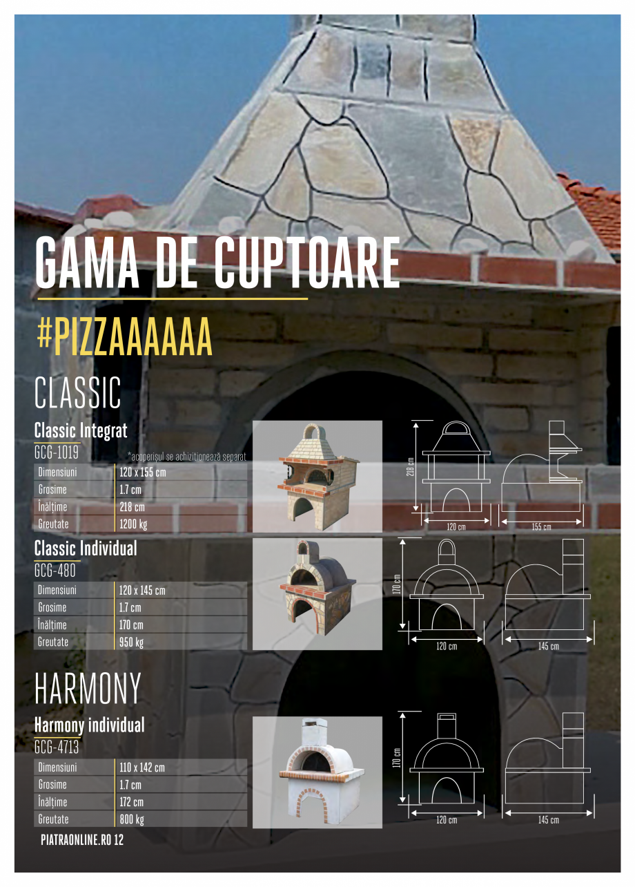 Pagina 12 - Gratare si cuptoare de gradina PIATRAONLINE Catalog, brosura Romana gata de utilizare...