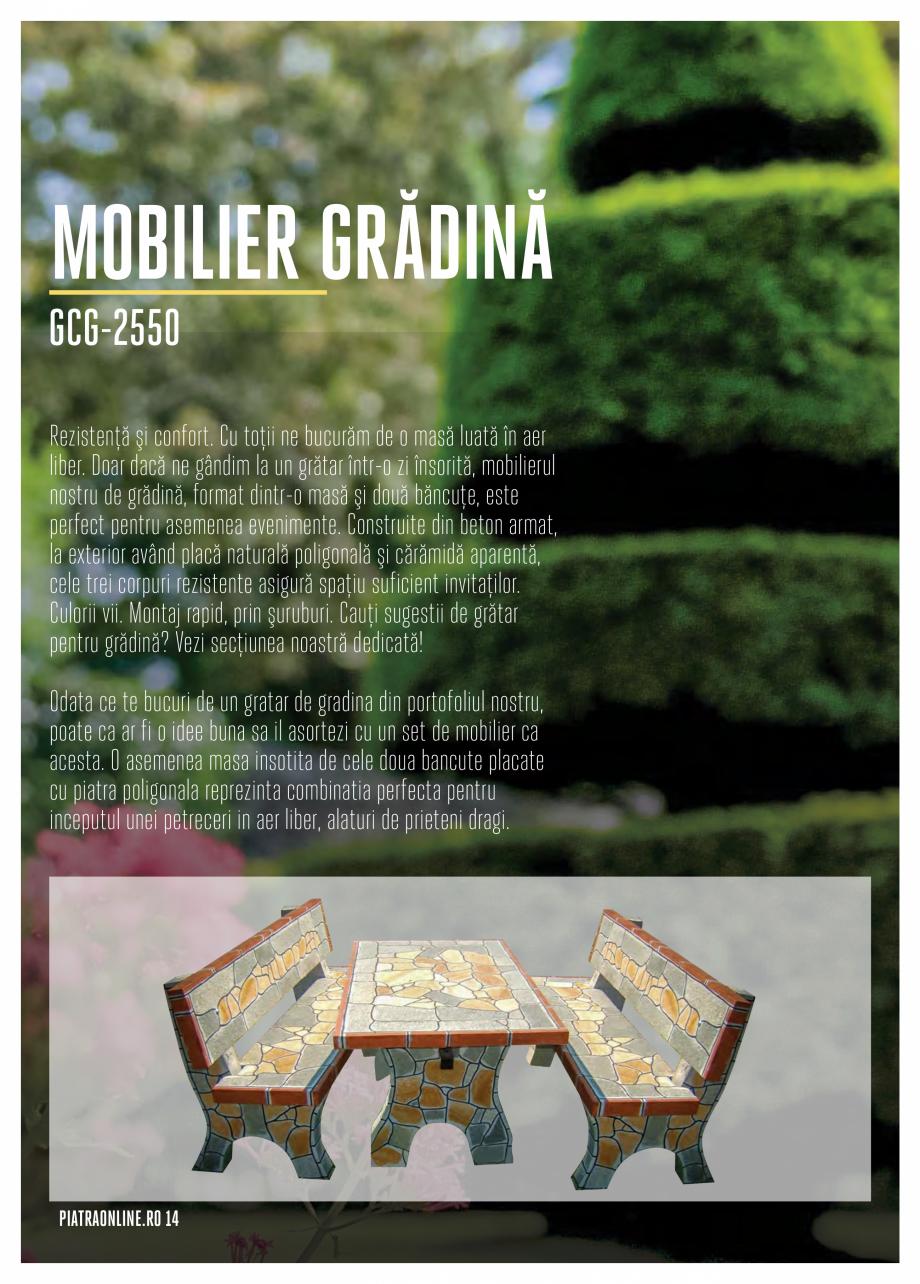 Pagina 14 - Gratare si cuptoare de gradina PIATRAONLINE Catalog, brosura Romana unt de dimensiuni...