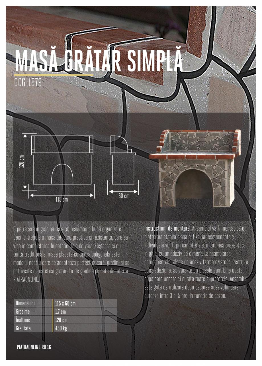 Pagina 16 - Gratare si cuptoare de gradina PIATRAONLINE Catalog, brosura Romana  pentru fiecare...