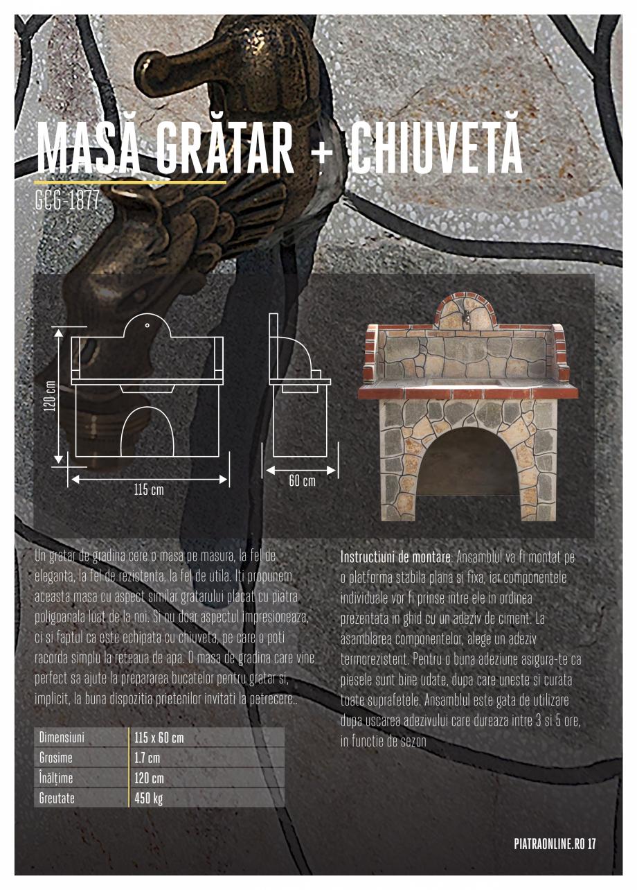 Pagina 17 - Gratare si cuptoare de gradina PIATRAONLINE Catalog, brosura Romana sunt capabile sa...