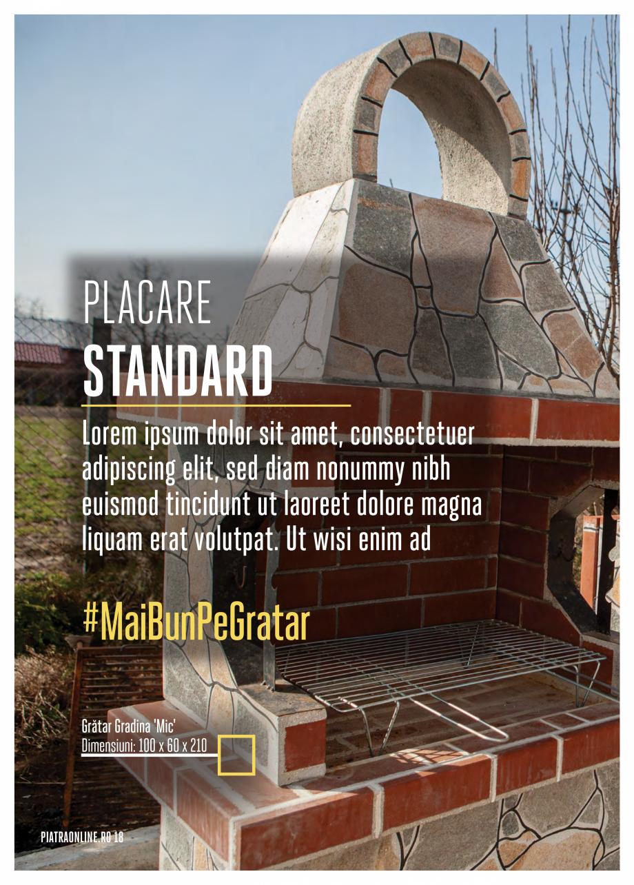 Pagina 18 - Gratare si cuptoare de gradina PIATRAONLINE Catalog, brosura Romana neteda pentru...