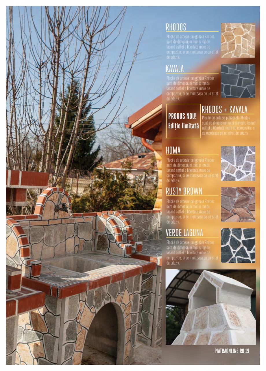 Pagina 19 - Gratare si cuptoare de gradina PIATRAONLINE Catalog, brosura Romana i surplusul de chit....