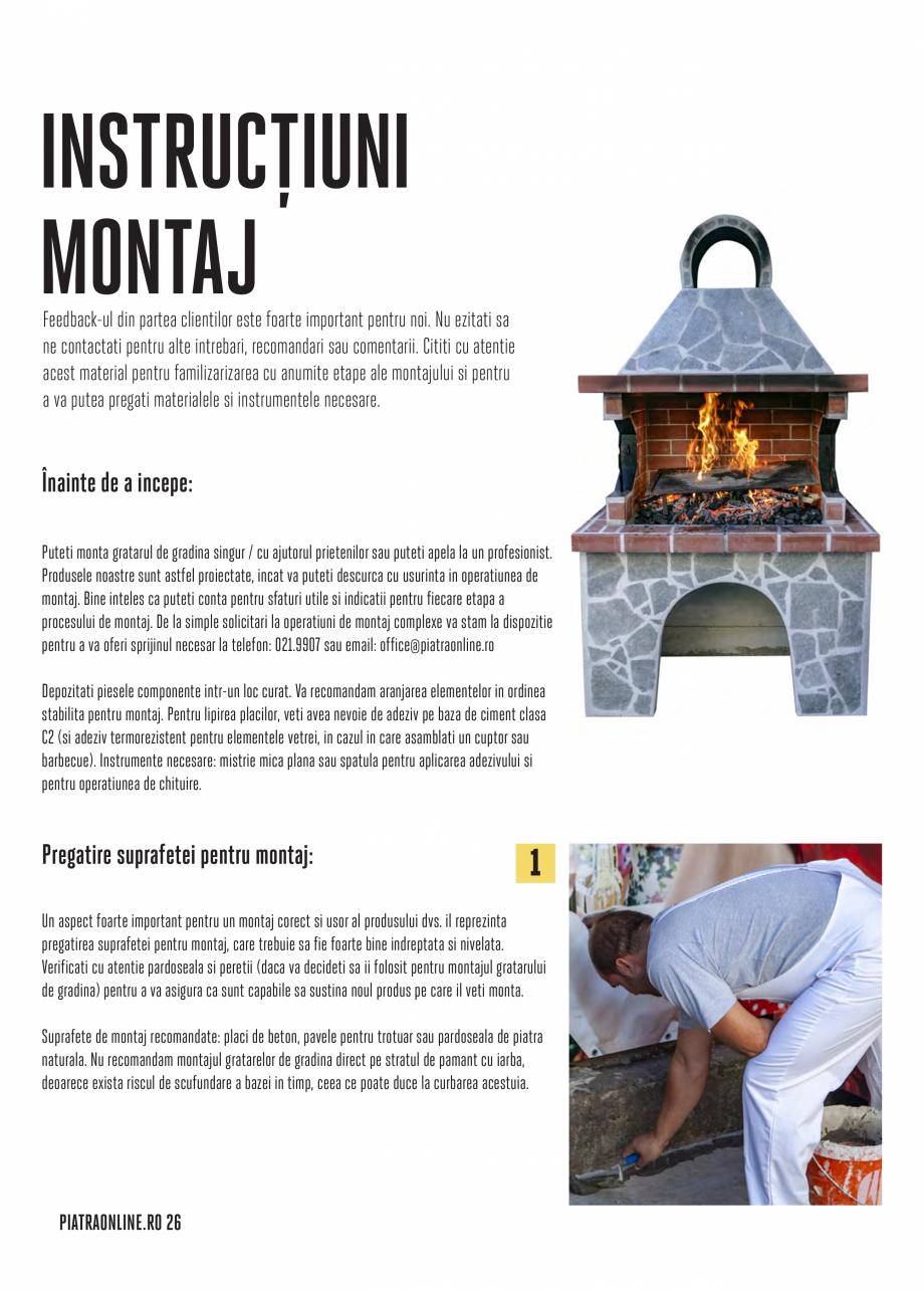 Pagina 26 - Gratare si cuptoare de gradina PIATRAONLINE Catalog, brosura Romana