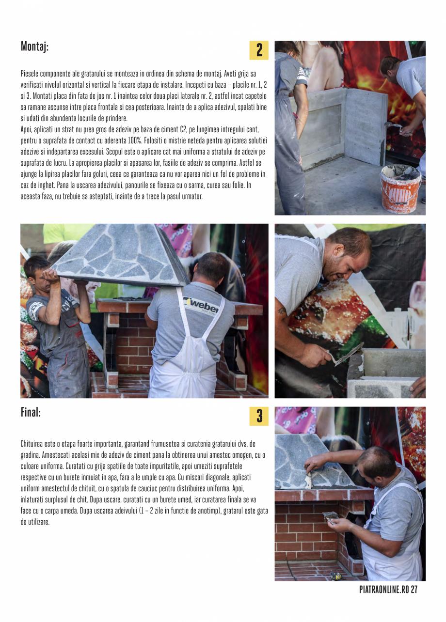 Pagina 27 - Gratare si cuptoare de gradina PIATRAONLINE Catalog, brosura Romana