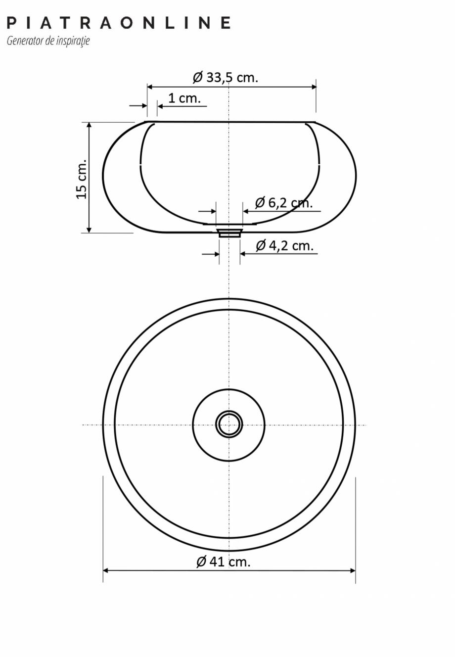 Pagina 1 - Chiuveta Matia marmura Light Emperador RS-21 41 x 33.5 x 15 cm PIATRAONLINE LPN-7314 Fisa...