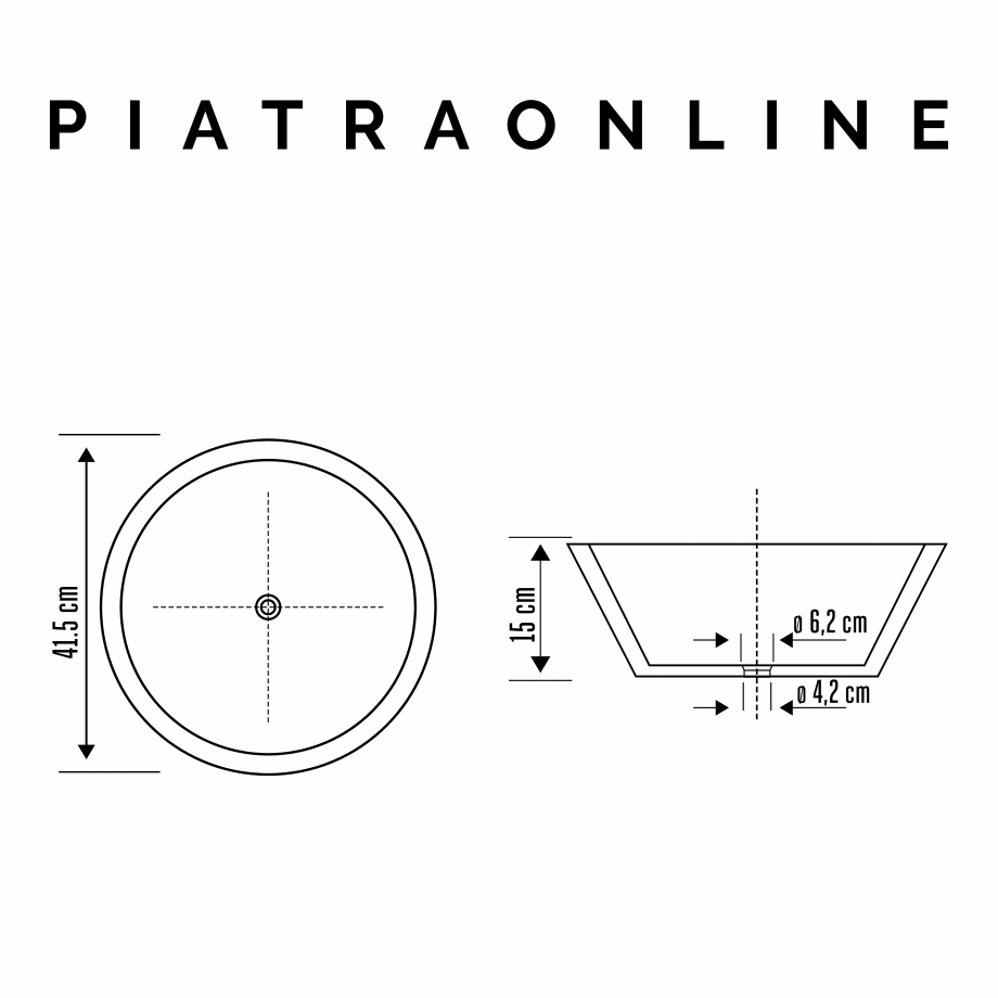 Pagina 1 - Chiuveta Matia travertin Yellow RS-8 PIATRAONLINE LPN-7321 Fisa tehnica Romana 15 cm  41....