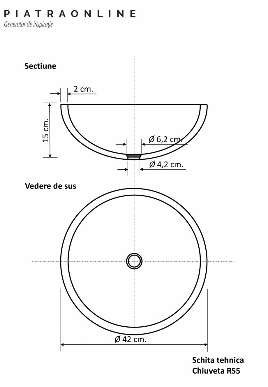 Pagina 1 - Chiuveta Matia marmura Light Emperador RS-5  PIATRAONLINE LPN-7319 Fisa tehnica Romana...