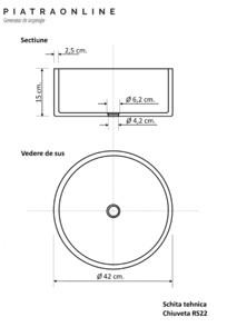 Chiuveta Matia marmura Cappuccino RS-22 PIATRAONLINE