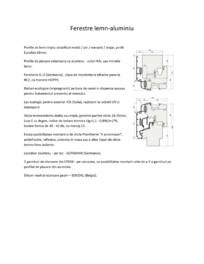 Detalii tehnice - Ferestre lemn-aluminiu PROLEMATEX