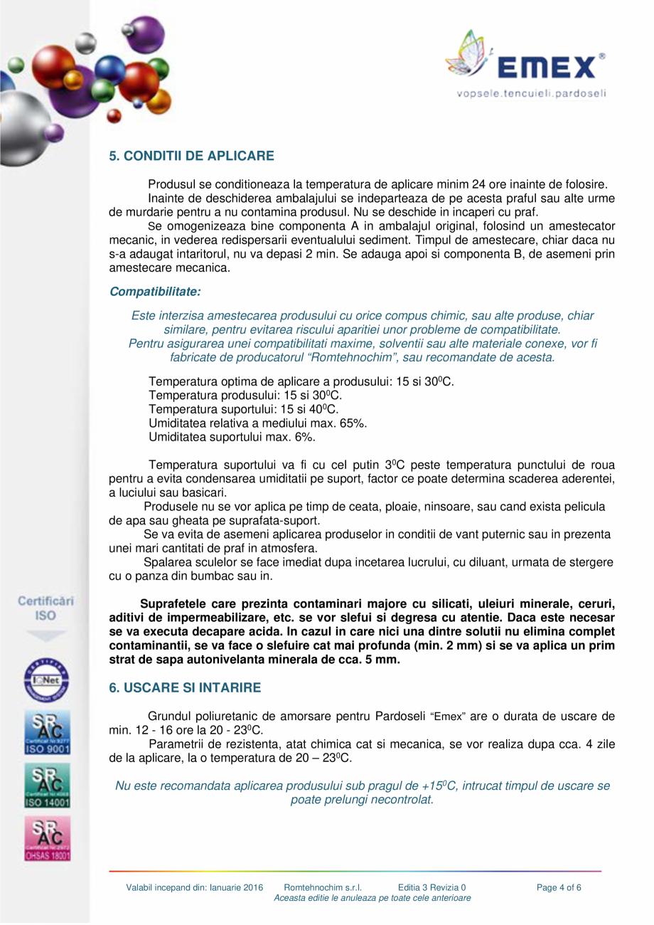 Pagina 4 - Grund poliuretanic amorsare pardoseli EMEX GRUND DE AMORSARE Fisa tehnica Romana ect  7. ...