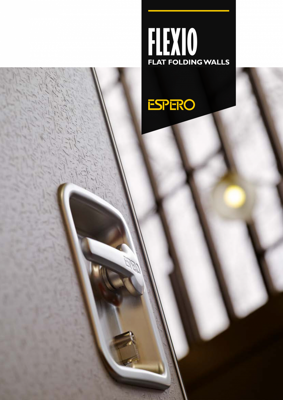 Pagina 1 - Pereti mobili, demontabili  ESPERO Flexio Catalog, brosura Engleza FLEXIO  FLAT FOLDING...