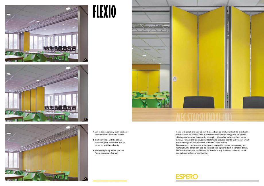 Pagina 4 - Pereti mobili, demontabili  ESPERO Flexio Catalog, brosura Engleza d guide enable the...