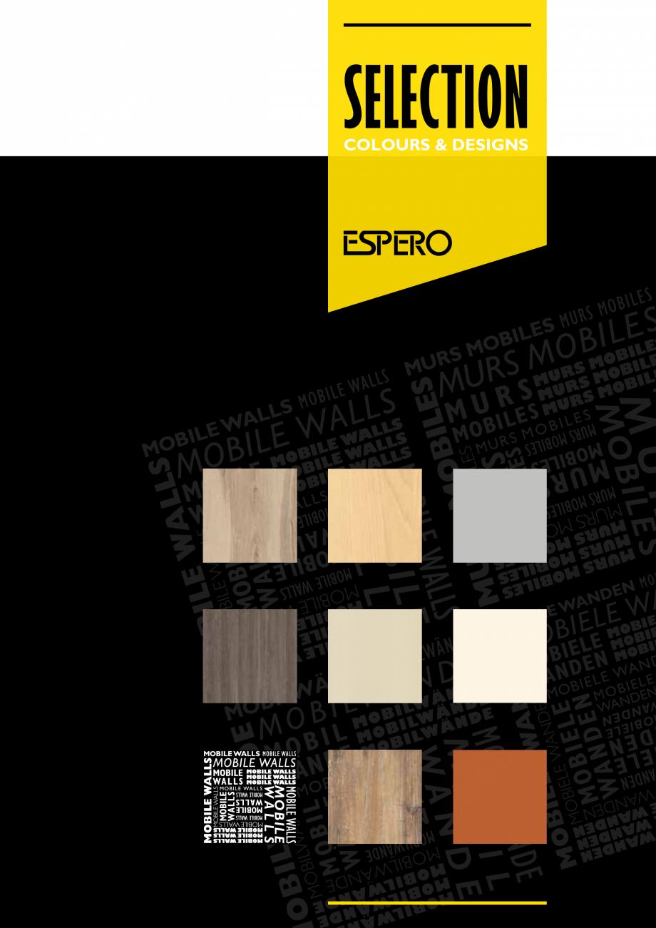 Pagina 1 - Paletar pentru pereti mobili, demontabili  ESPERO Sonico, Flexio, Uno & Duplo, Visio,...