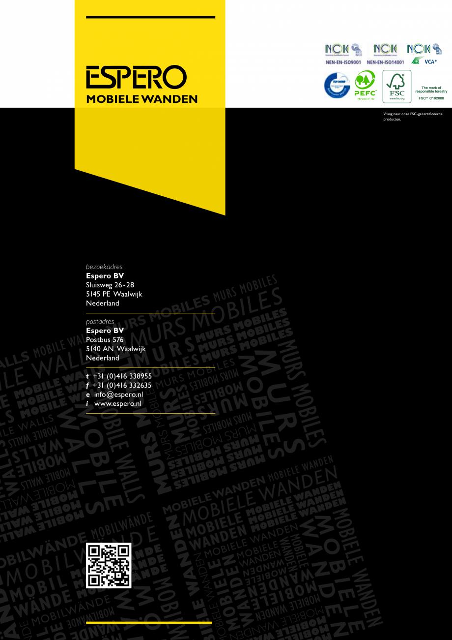 Pagina 5 - Paletar pentru pereti mobili, demontabili  ESPERO Sonico, Flexio, Uno & Duplo, Visio,...