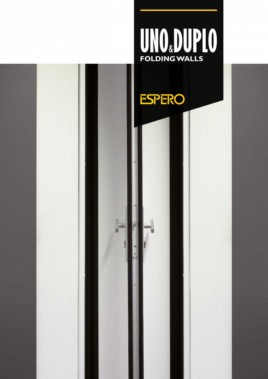 Pagina 1 - Pereti mobili, demontabili    ESPERO Uno & Duplo Catalog, brosura Engleza UNO DUPLO &...