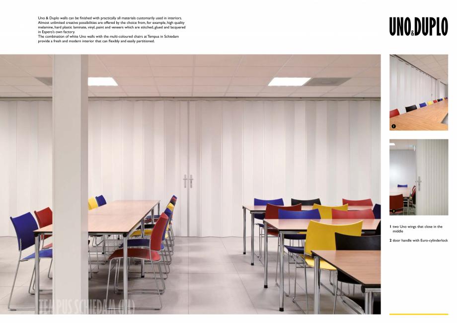 Pagina 3 - Pereti mobili, demontabili    ESPERO Uno & Duplo Catalog, brosura Engleza ity and...