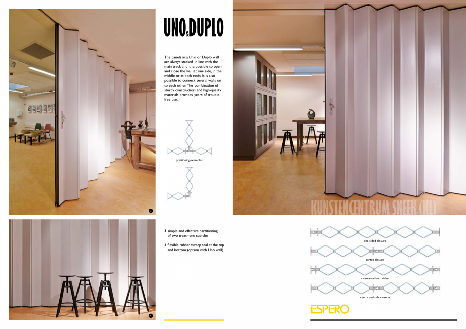 Pagina 4 - Pereti mobili, demontabili    ESPERO Uno & Duplo Catalog, brosura Engleza uction and ...