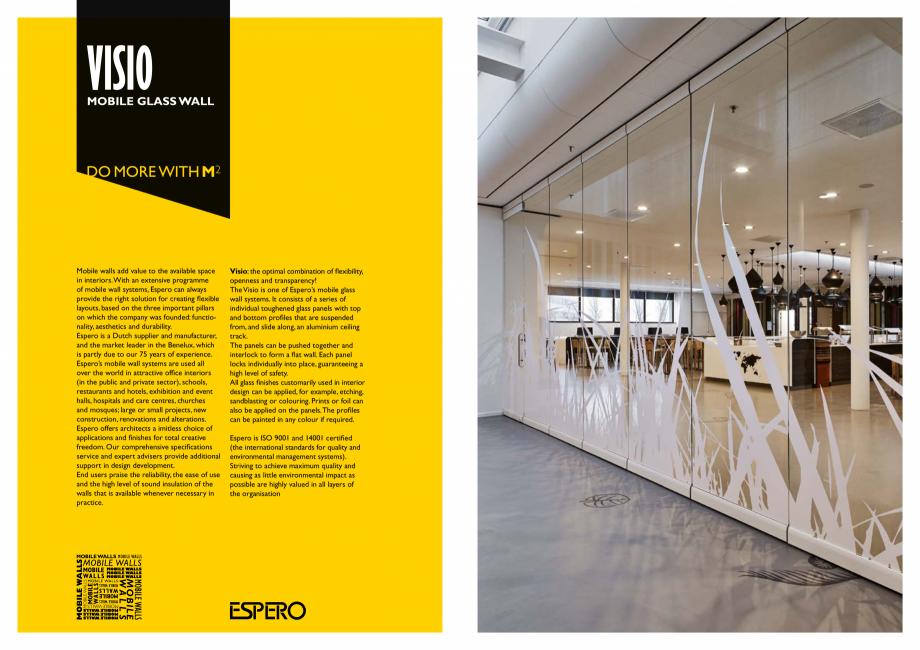 Pagina 2 - Pereti mobili, demontabili  ESPERO Visio Catalog, brosura Engleza opment. End users...