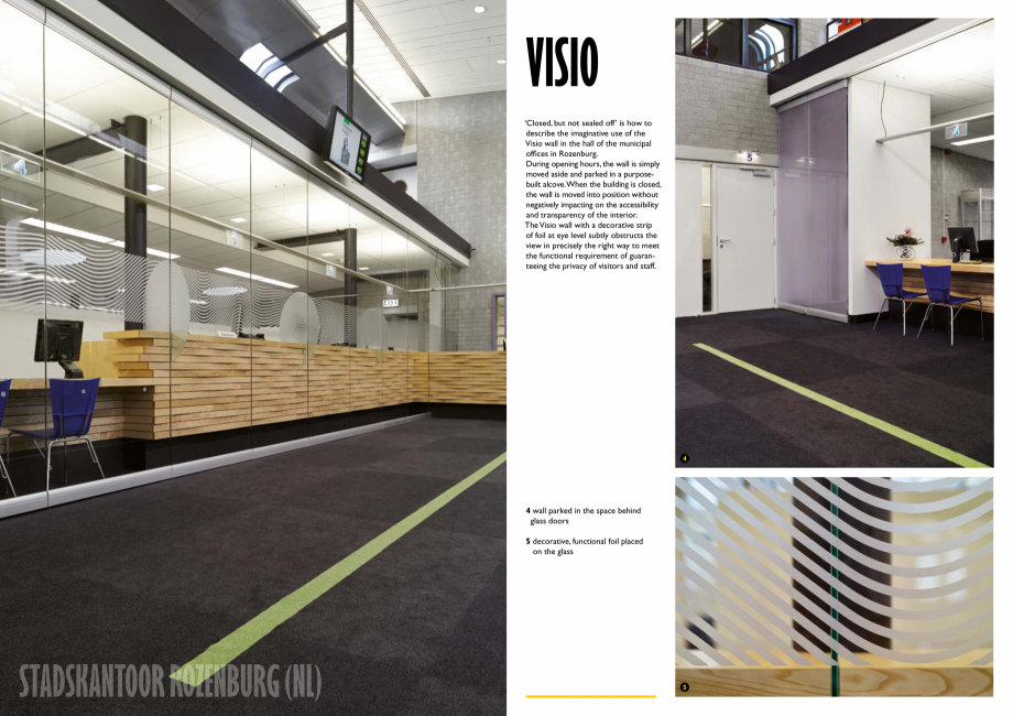 Pagina 5 - Pereti mobili, demontabili  ESPERO Visio Catalog, brosura Engleza tructs the view in...