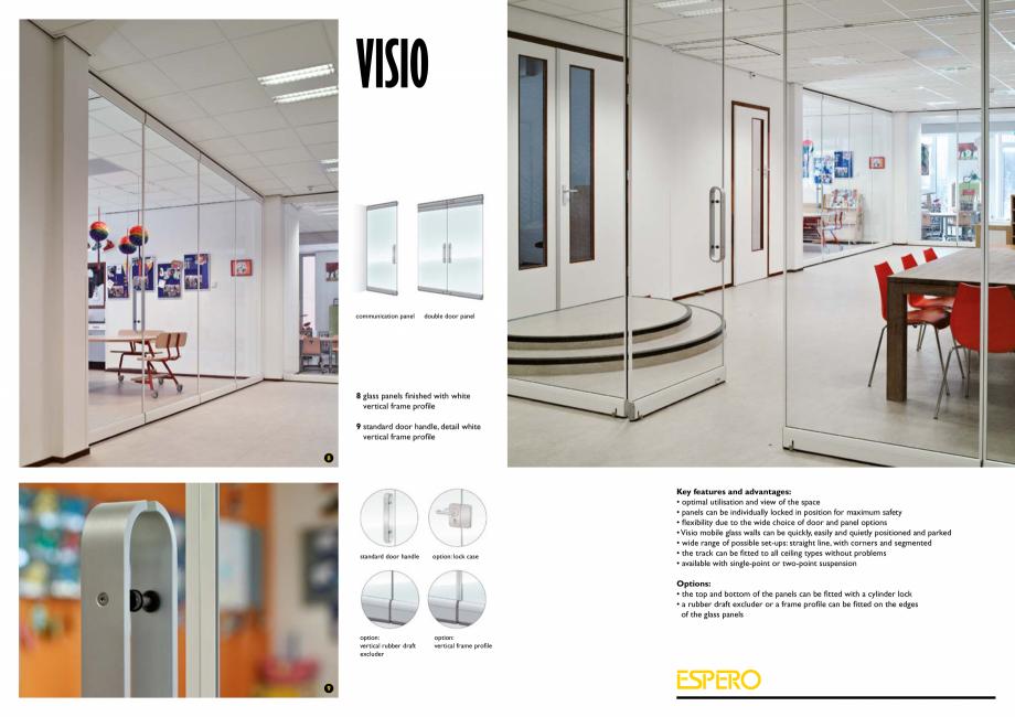 Pagina 7 - Pereti mobili, demontabili  ESPERO Visio Catalog, brosura Engleza partitioning spaces...