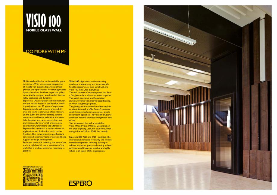 Pagina 2 - Pereti mobili, demontabili ESPERO Visio 100 Catalog, brosura Engleza gn development. End ...