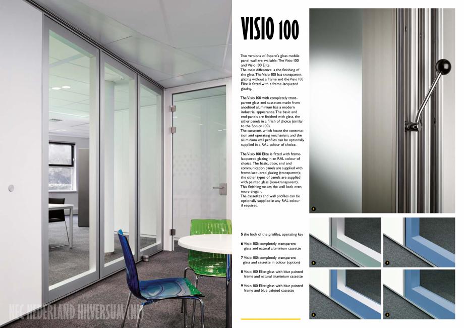 Pagina 4 - Pereti mobili, demontabili ESPERO Visio 100 Catalog, brosura Engleza etails  BREDE SCHOOL...