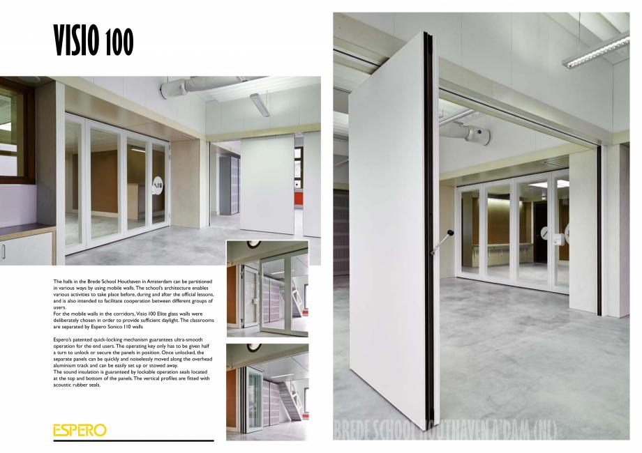 Pagina 5 - Pereti mobili, demontabili ESPERO Visio 100 Catalog, brosura Engleza  (transparent); the ...