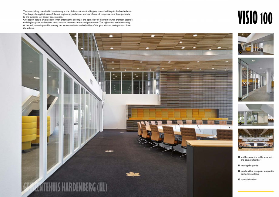 Pagina 6 - Pereti mobili, demontabili ESPERO Visio 100 Catalog, brosura Engleza lite glass walls...