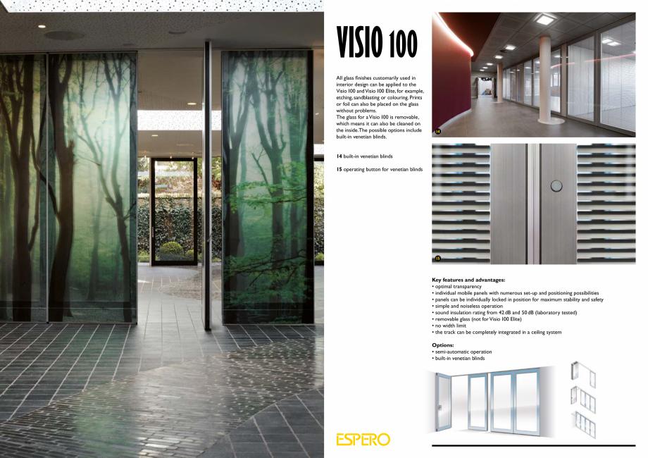 Pagina 7 - Pereti mobili, demontabili ESPERO Visio 100 Catalog, brosura Engleza ring the building is...